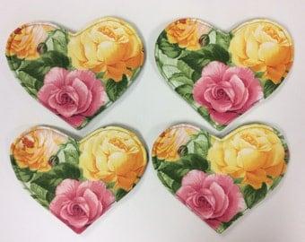 Set of 4 Heart Shaped Coasters