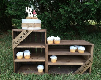 Rustic Wedding Cupcake Stand,  Rustic Cupcake Stand, Favor Stand, Wedding Crate