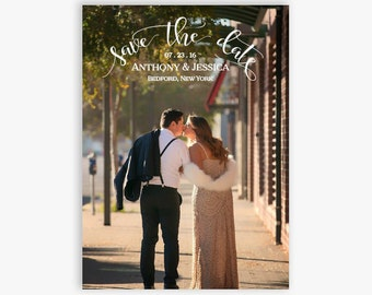 Save-The-Date Photo Announcement, Custom Photo, Printable PDF File, Save the Date Card