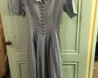 Vintage dress by Laura Ashley, 40s style