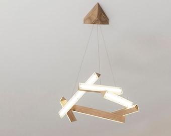 LED Wood Chandelier-Super stylish chandelier-ultra design-Led Wood Chandelier-extra contemporary design - futuristic stile- minimalism style