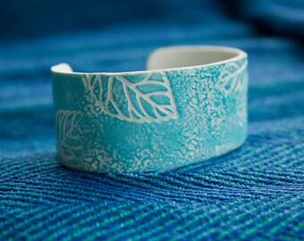 Blue dreaming bracelet - polymer clay