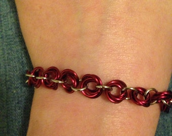 Wine rosette bracelet