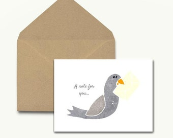 Carrier Pigeon Note Cards – Boxed Set of 10 With Envelopes