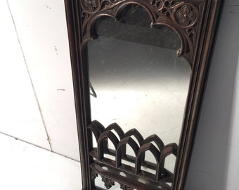 Upcycled Gothic Style Fire Surround Mirror