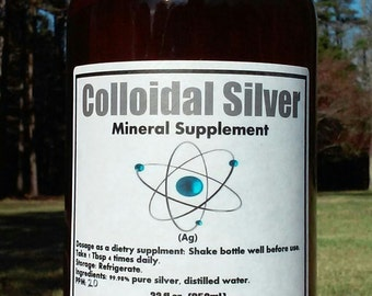Colloidal Silver Huge 32oz. Amber