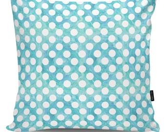 Decorative pillow Dots blue