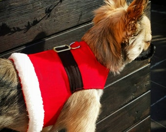Santa Dog Harness, Dog Vest, Pet Accessory