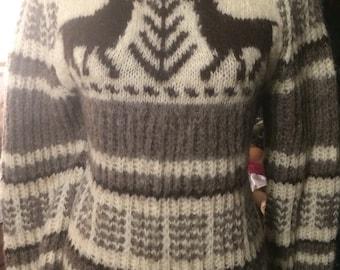 Vintage handmade wool women's sweater