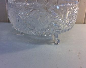 "Lead crystal 8"" bowl"