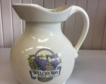 Welch's Way Since 1869 Pitcher