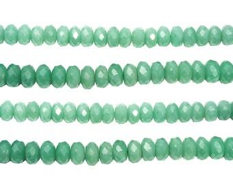 15 1/2 IN Strand 8 mm Aventurine Rondelle Faceted Gemstone Beads (AVERLF0008)