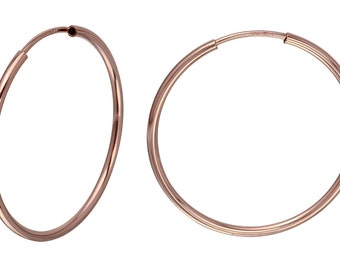 1 Pair 30 mm Hoops 14K Rose Gold Filled Endless (RGF4003811)