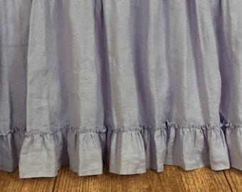 Lavender Gathered Bed Skirt with Country Ruffle Hem