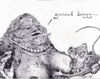Jabba RineHutt and the Coal-Ilition - Original illustration