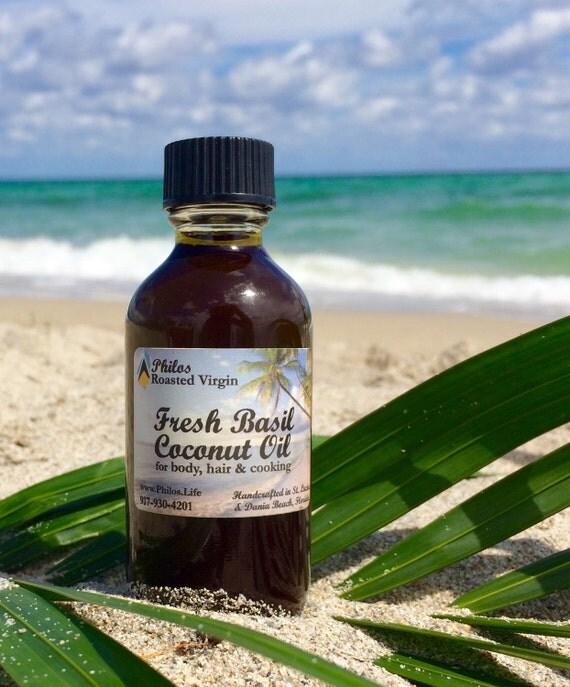 Fresh Basil Coconut Oil