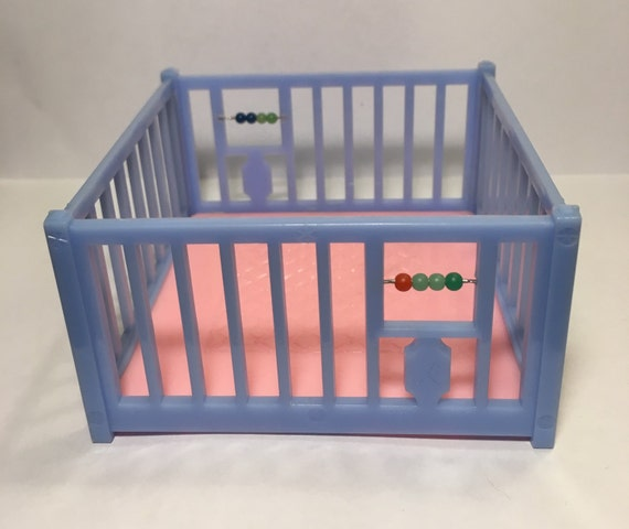 Renwal Blue Playpen With Beads Vintage Dollhouse By Margosmaddness