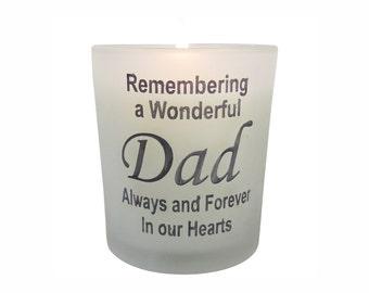 Dad Memorial Candle - Remembrance Gift Keepsake