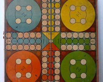 Antique Ludo Board - Art Neauvou - 36x35.5cm