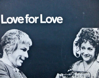 The National Theatre London - Love for Love by William Congreve - Collectable Poster 506x757mm 1965