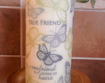 True Friend Candle, Friends Candle Gift, Gift for Friend, Girthday Gift