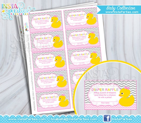 Baby Shower Game Diaper Raffle Tickets / Girl Baby Shower Games ...