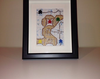 Carcassonne Winter Edition Shadowbox Art - Large, Portrait Orientation