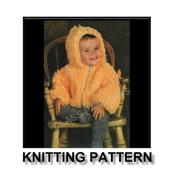 Loopy Cardigan Knitting Pattern : Knitting pattern baby sweater knitted coat