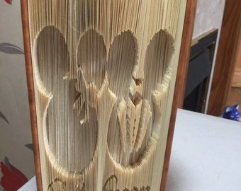 Bride and groom book folding pattern