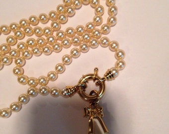 Vintage Joan Rivers clasp pearl necklace