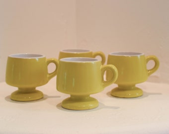 Retro Yellow footed coffee mugs // Retro // Vintage // Mid Century