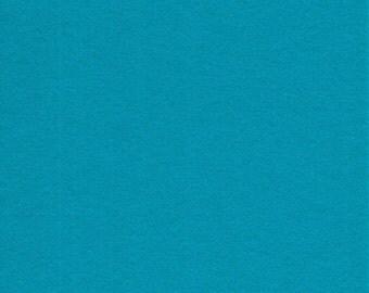 "Turquoise 100% Merino Wool Felt Sheet 8"" by 12"""