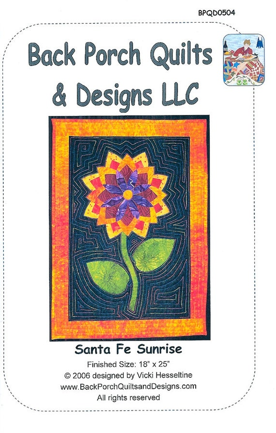 Santa Fe Sunrise Applique Wall Hanging Pattern by Back Porch Quilts & Designs from ...