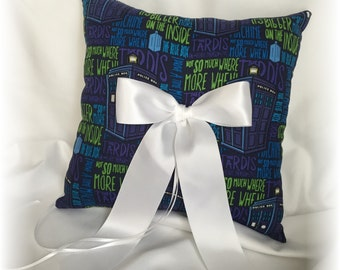 doctor who wedding ring bearer pillow dr who ring pillow scifi wedding ring pillow - Dr Who Wedding Ring