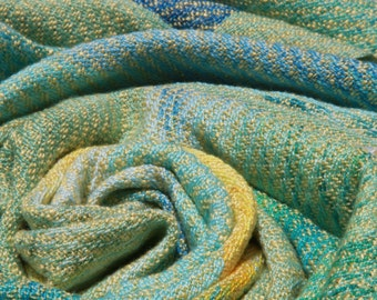 Baby Blanket, Handwoven, hand dyed, swaddle, crib, stroller, blanket