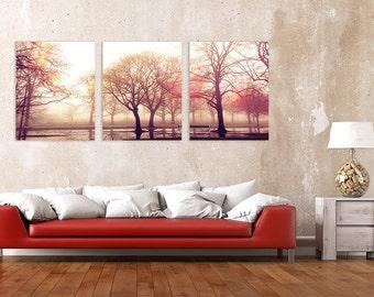 Landscape triptych wall art, landscape photography, landscape panoramic