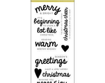 Christmas Sentiments Stamp Set by Right at Home