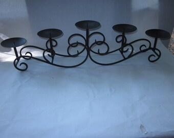 Wrought Iron Candelabra, holds 5 Pillar Candles