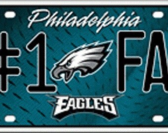 Philadelphia Eagles #1 Fan NFL Embossed Metal License Plate LP-738