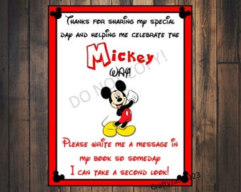 Mickey Mouse Birthday party sign, mickey mouse birthday, mickey mouse birthday decorations, Mickey mouse, 8x10 INSTANT DOWNLOAD!