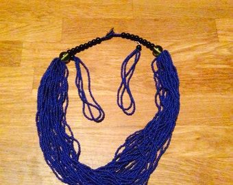 Blue Pearl Necklace + matching earrings