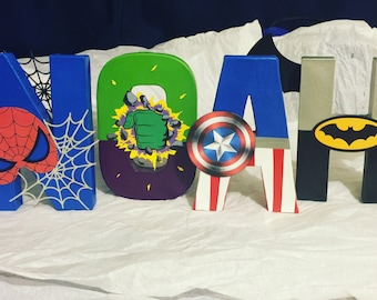 Superhero Inspired Personalized Letters