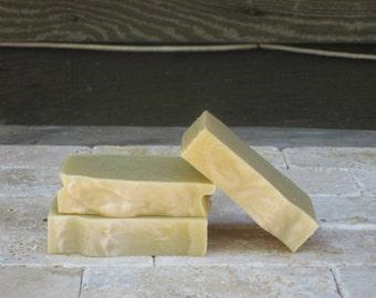 Cucumber & Yogurt Soap - Cold process, gentle, unscented, olive oil, sunflower oil soap