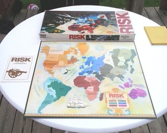Risk Board Game 1975 Parker Brothers World Conquest 100% Complete Bilingual