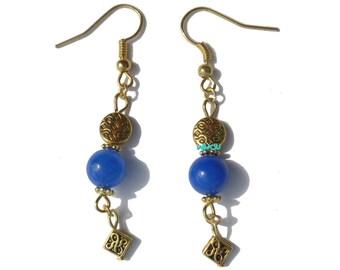 Earrings with jade pearls