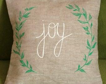 Joy Linen Pillow Cover