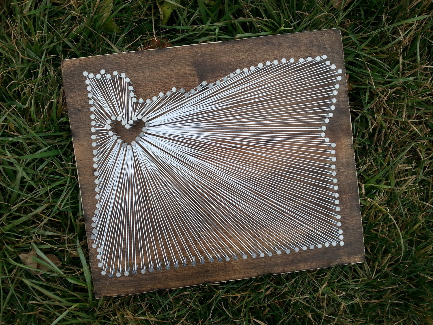 Oregon string art state string art oregon nail art rustic zoom prinsesfo Image collections