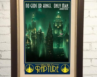 Bioshock Rapture Vintage Style Travel Poster Print Poster Retro  11x17 Infinite