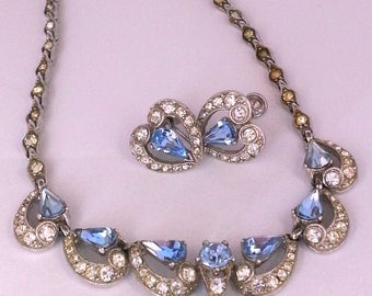 BOGOFF signed Lavalier Necklace and Earrings Set