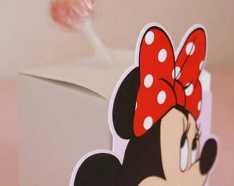 5 Adorable Minnie's  Lollipops boxes  Minnie's party favours